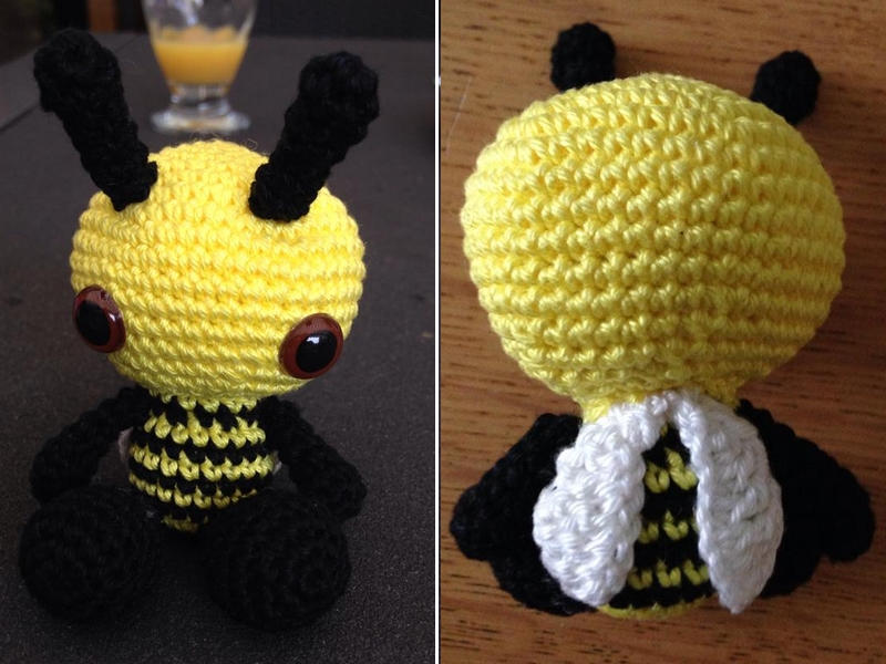 PATTERN Burt the Cuddle-Sized Bumble Bee Amigurumi – Storyland Amis | 600x800