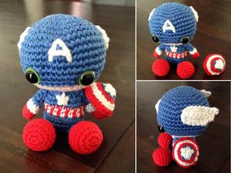 Amigurumi Captain America by SanneMarije