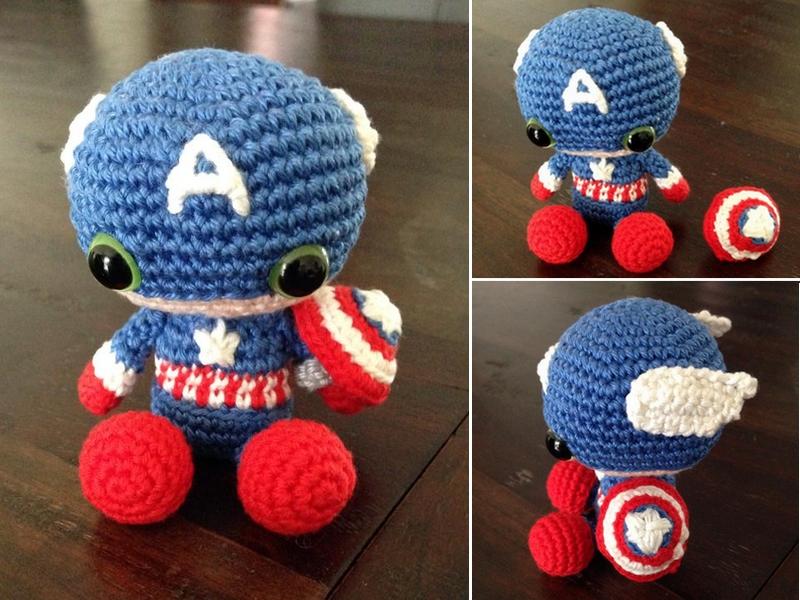 Snail Avengers Amigurumi : Amigurumi Captain America by SanneMarije on DeviantArt