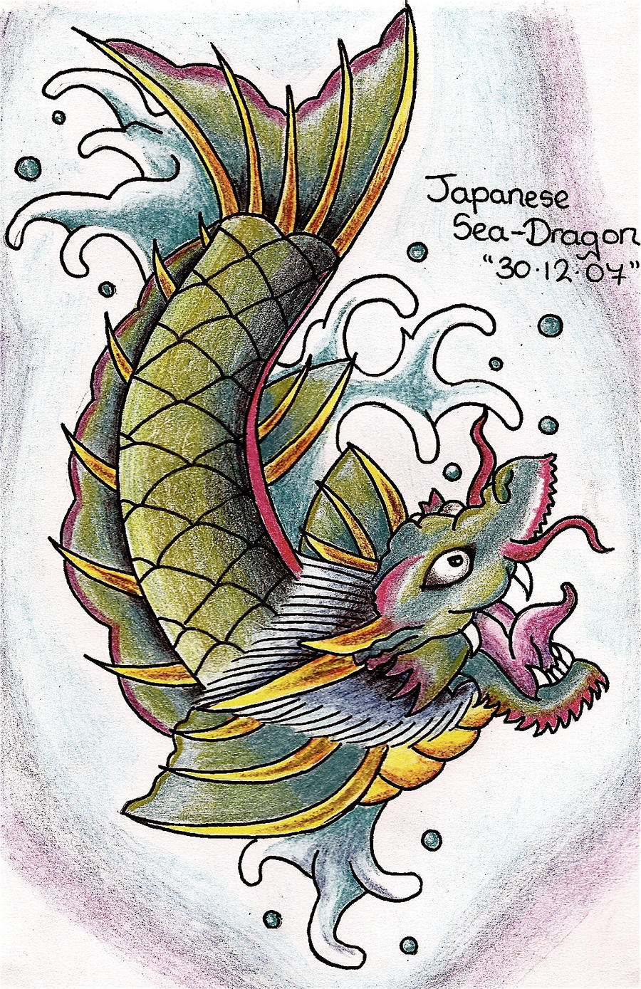Japanese sea dragon by kimberleyfox on deviantart for Sea dragon tattoo