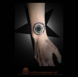 Black star eye