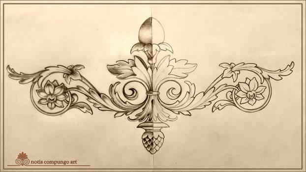 Baroque symbolic ornament