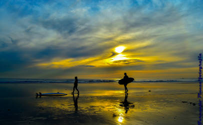 Sunset surf! by claket57