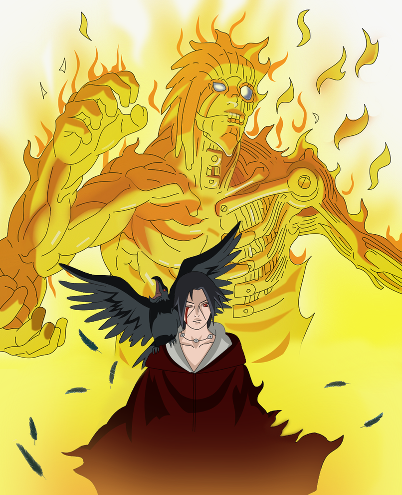 itachi susanoo naruto cover 58 by kushinastefy on deviantart