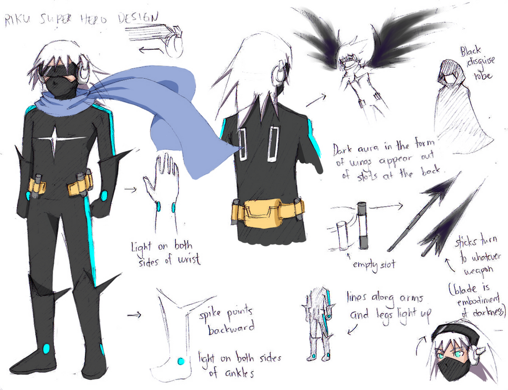Streak - Super Hero Riku Concept by NaitomeIya