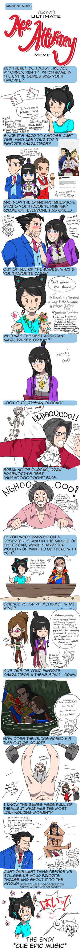 [SoJ SPOILERS] Ultimate Ace Attorney Meme Answered by NaitomeIya