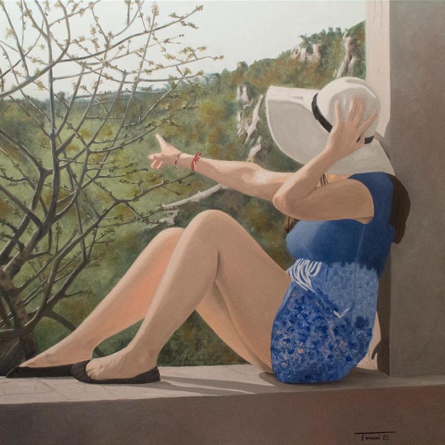 The Girl in Blue by cesaretanassi