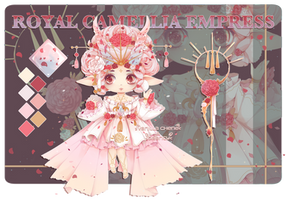 [CLOSED] Royal Camellia Empress Fairy Vial | Adopt by deency