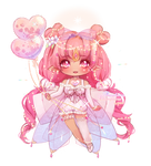 [CLOSED] Raspberry Champagne Fairy Vial | Adopt