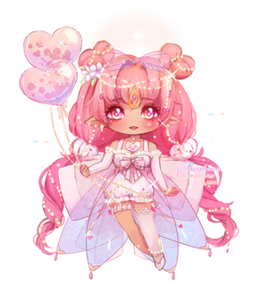 [CLOSED] Raspberry Champagne Fairy Vial   Adopt