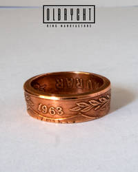 Island Aurar Bronze Ring, handmade Jewelry by OlbrychtRings