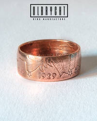 Indian American Liberty copper handmade ring. 1929 by OlbrychtRings