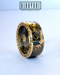 Knights in Battle - Coin ring, Handmade signet, je by OlbrychtRings