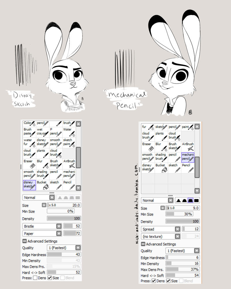 Paint Tool Sai Brushes page 2 by funkology
