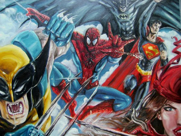 superheroes by artelo