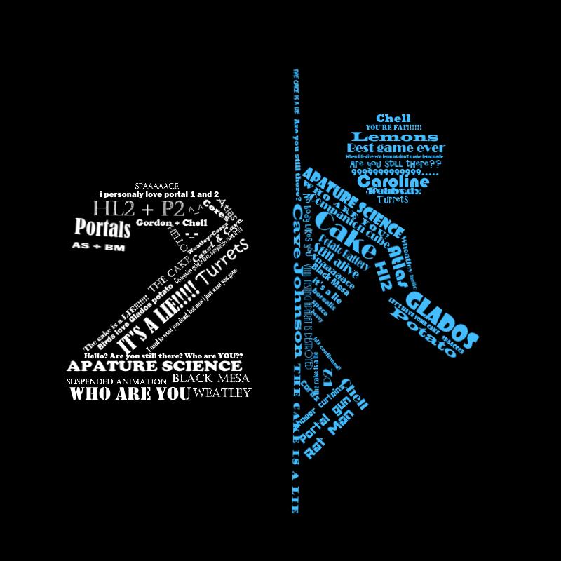 portal 2 typography by otakucreey on deviantart