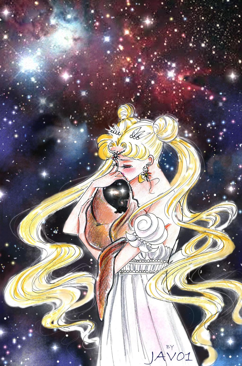 Sailor moon ( serenity ) - in the macrocosm by zelldinchit