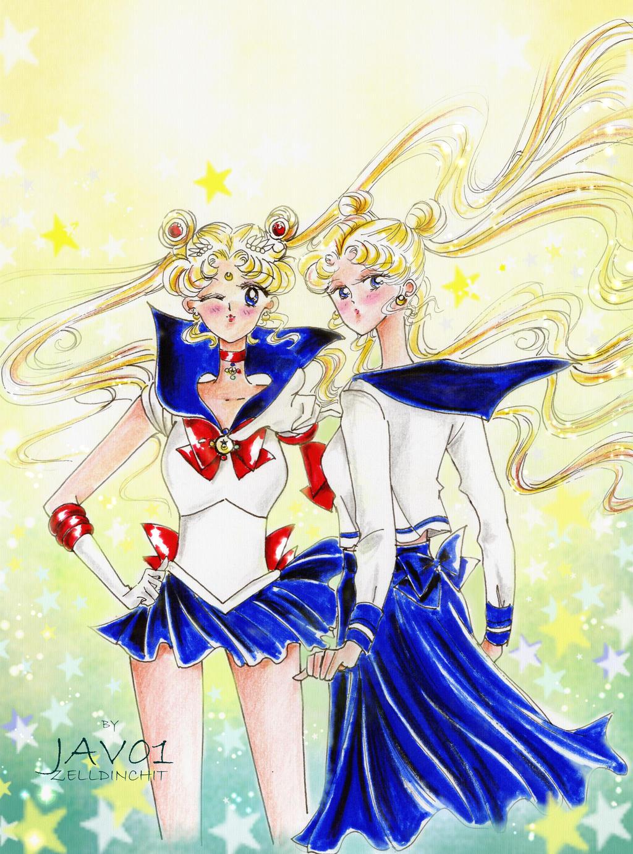 usagi-Sailor moon by zelldinchit