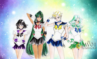 outer senshi  - sailor moon s by zelldinchit
