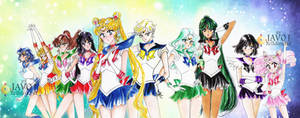 sailor moon  - inner and outer senshi