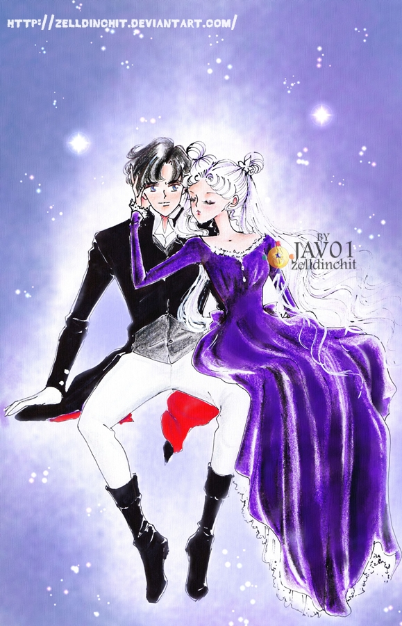 usagi and mamoru - sailor moon by zelldinchit