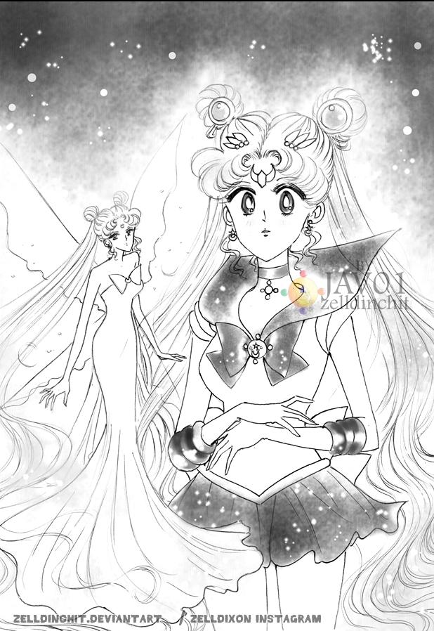 sailor moon - Queen message by zelldinchit