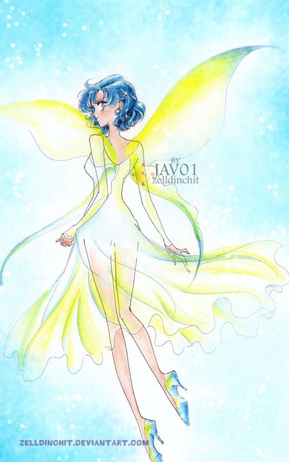 Ami Mizuno - blue Butterfly by zelldinchit