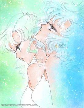 Mako and Ami - inner senshis