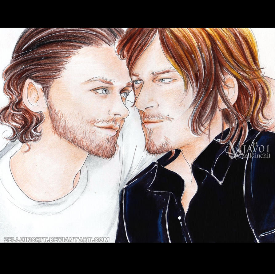 Daryl and Rick TWD - Brothers by zelldinchit