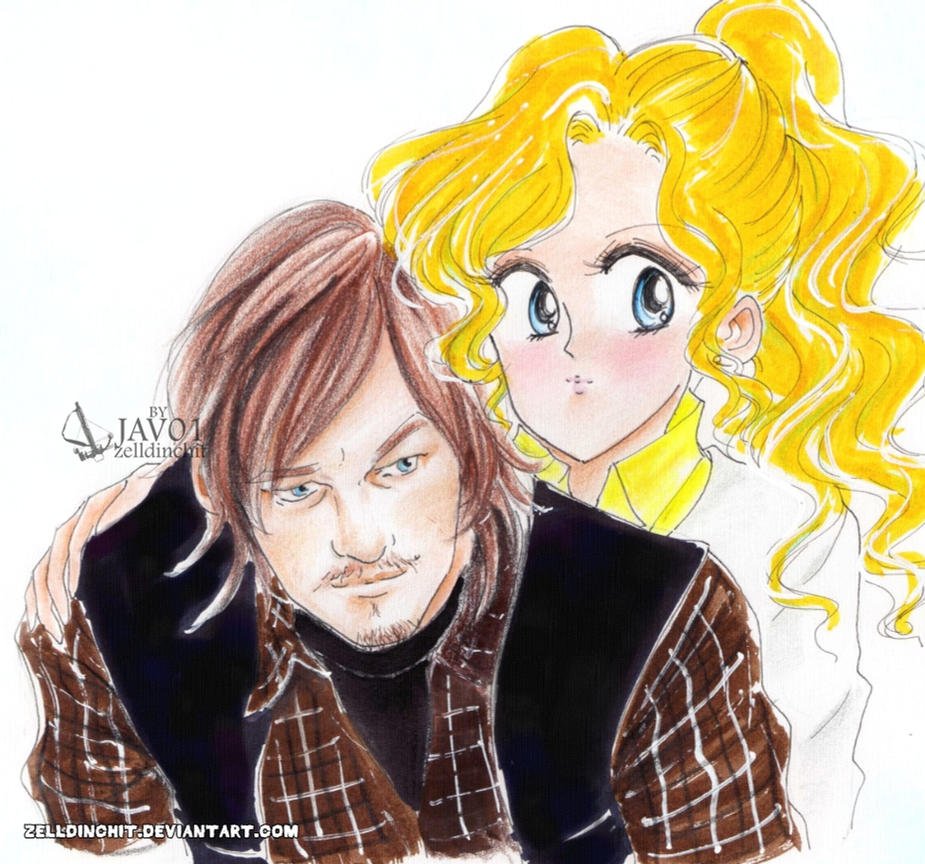 Daryl and Beth -The walking dead  season 4 by zelldinchit