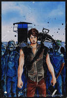 Daryl Dixon  - The walking dead season 3 by zelldinchit