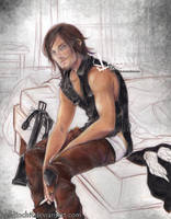 Daryl Dixon  - The walking dead season 6 - here by zelldinchit