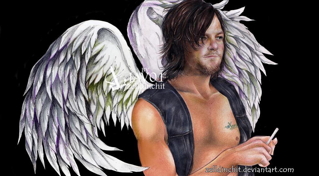 Daryl Dixon  Wings - The walking dead by zelldinchit
