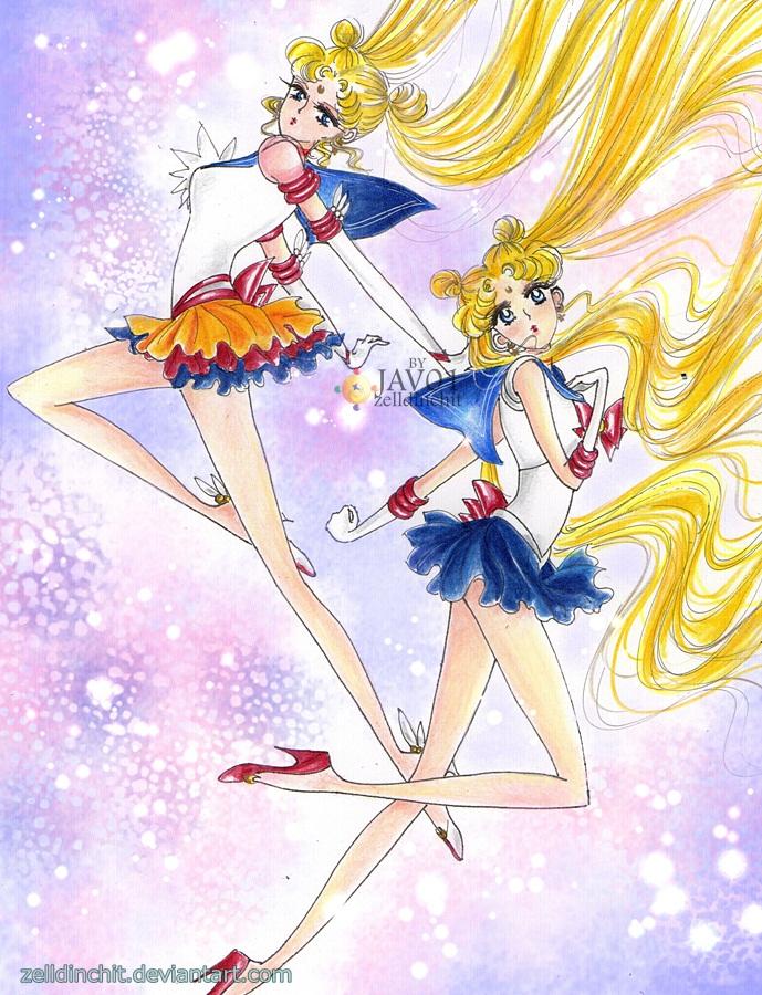 Usagi -Sailor Moon by zelldinchit