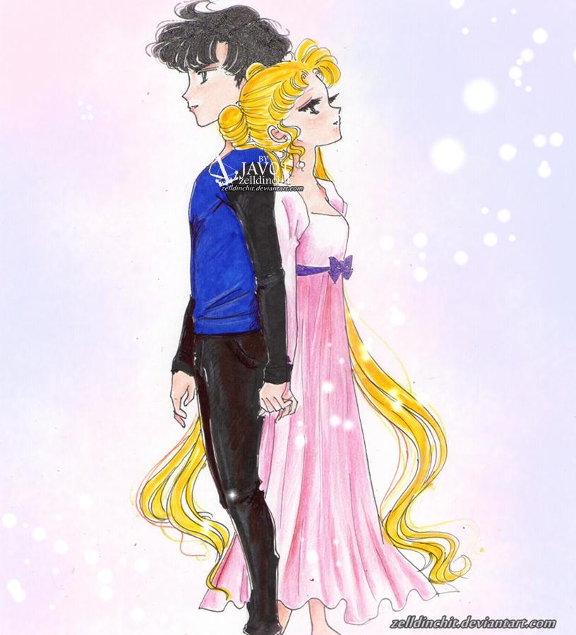 Usagi and Mamoru - You and I by zelldinchit