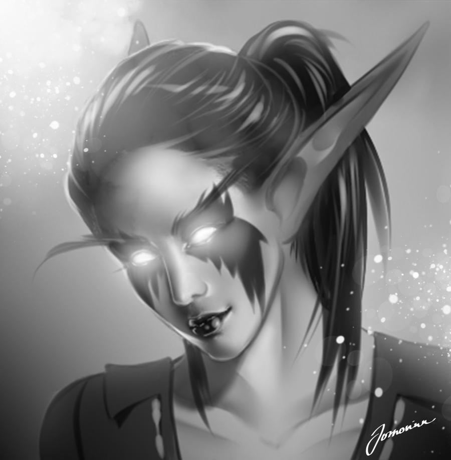 A painted character portrait commission for Jhae