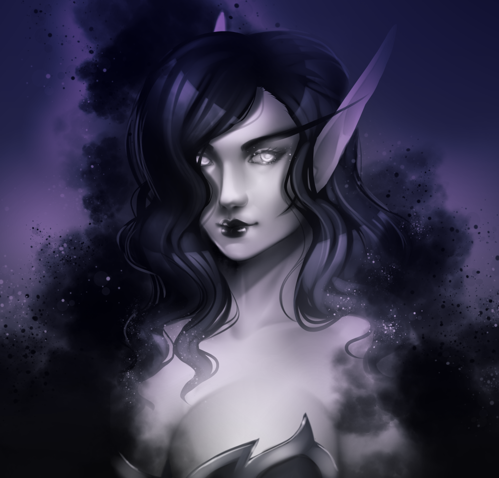 Voidelf Portrait commission for Jhae