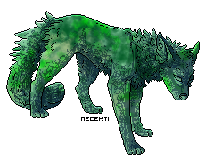 [CLOSED] Emerald Pixel Wolf Adopt - 3 points by Gingerpatch-59