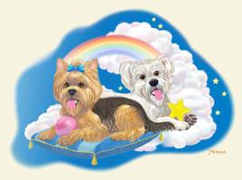 Eternal Friends Pet Portrait by Toonicorn
