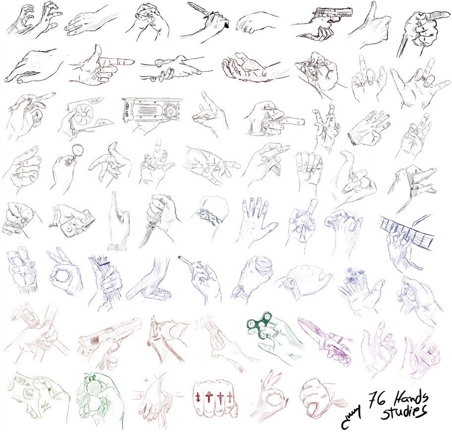 Studies Hands Ilustration by JhonnySilva