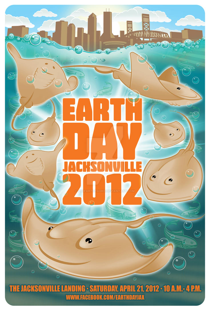 EarthDay Jacksonville, FL 2012 Poster art by pixieartdesigns