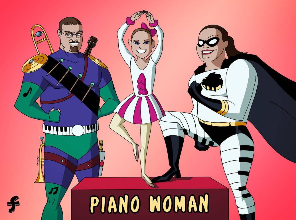 Piano Woman and Band Man   COMMISSION by JTSEntertainment