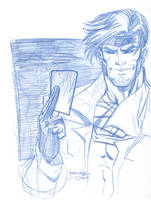 Gambit of the X-Men sketch by thejeremydale