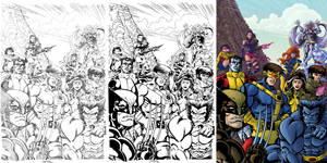 X-Men process sidebyside
