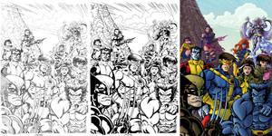 X-Men process sidebyside