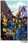 X-Men 90s era print