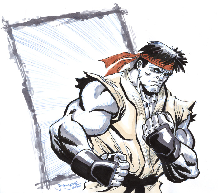 ryu from street fighter sketch by thejeremydale on deviantart