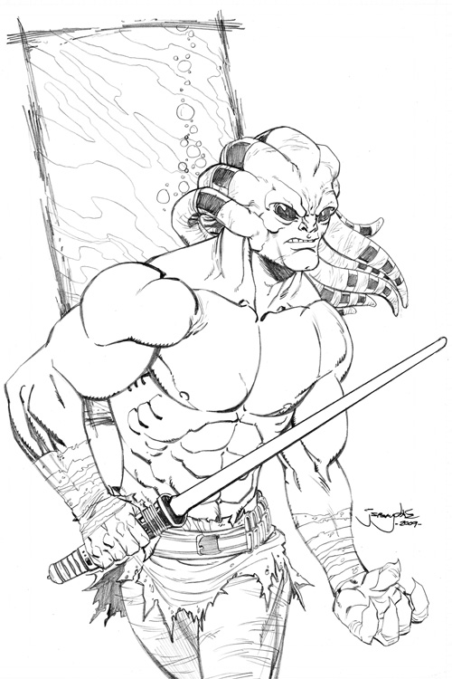 Kit Fisto Pages Coloring Pages