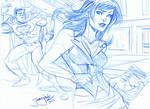 SKETCH Lois Lane and Superman