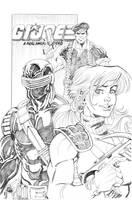 Scarlett Snake-Eyes n Flint by thejeremydale